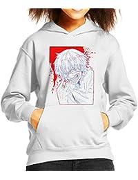 Ken Keneki Tokyo Ghoul Blood Splatter Kid's Hooded Sweatshirt