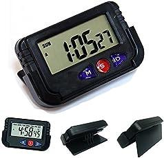 Crownish Digital LCD Alarm Table Desk Car Calendar Clock Timer Stopwatch