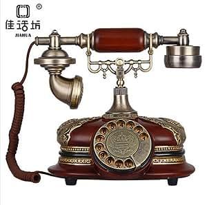 MATAQI Créative rétro plaque tournante téléphone fixe téléphone fixe à la maison européenne marier quotidienne cadeaux de mariage anciennes