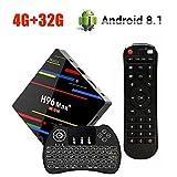 OKEU Android 8.1 OS Smart TV Box, H96 MAX+ TV Box 4GB RAM+32GB