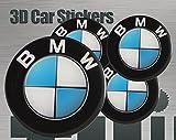 Think Ink 3D Aufkleber 4 STK. BMW Logo Imitation Alle Größen Mittelkappen Radkappen (40 mm)