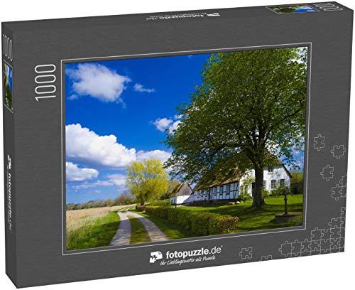 Puzzle 1000 Teile Landhaus mit Reetdach in Schleswig-Holstein - Klassische Puzzle, 1000 / 200 / 2000 Teile, edle Motiv-Schachtel, Fotopuzzle-Kollektion 'Deutsche Regionen' -