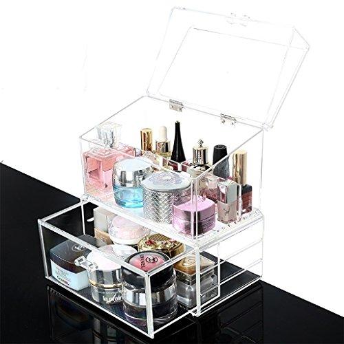 Contenitori cosmetici scatole per cosmetici mensole per cosmetici supporto per organizer per gioielli e trucco rotante scatola di immagazzinaggio per cosmetici multifunzionale regolabile a 360 gradi con grande capacità per scatole contenitori per cosmetici acrilici ( Size : B )