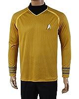 Star Trek Into Darkness Captain Kirk Shirt Uniform Costume Yellow Version