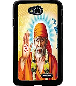 ColourCraft Lord Sai Baba Design Back Case Cover for LG L70