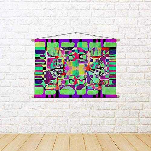 ArtzFolio Abstract D25 Silk Painting Tapestry Scroll Art Hanging 18 X 12Inch -
