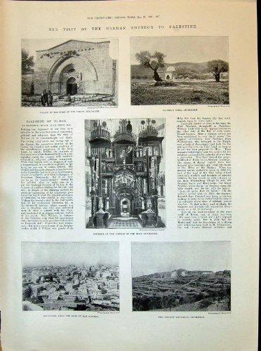 Grab-Bethlehems Jerusalem Kirchen-Heilige Grab-Palästinas Rachels Oliven 1898