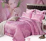 ZYJYbaumwolle satin jacquard - leere blatt quilt kissen vier stück europäischen stil home textil - betten - paket,rosa 2 meter bett
