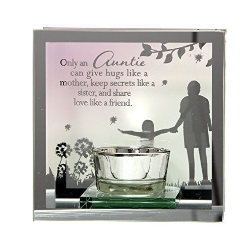 Only AN Auntie Can Give Hugs Like a Madre, Keep Secrets Like a Sister and Share Love Like a Friend Reflections from the Heart Mirrored Tealight by Juliana