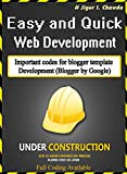 Important codes for blogger theme/template development (Blogger by Google) (English Edition)