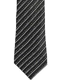 Alvaro Castagnino Black::White Black::White Colored Necktie for Men