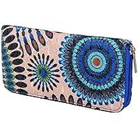Iwea Portafoglio donna zip around lungo portafoglio in stampa floreale etnico iw018