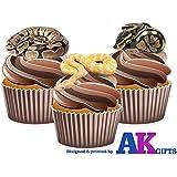 12 x diseño de piel de reptil de piel de serpiente Piel de serpiente Mix comestibles Tarjeta de cuadrícula adornos para tartas función atril UPS