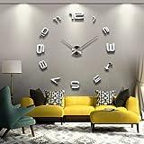 YESURPRISE wanduhr Riesige Spiegel Wanduhr Vinyl DIY Ø 130cm Große XXL Design Uhr #5