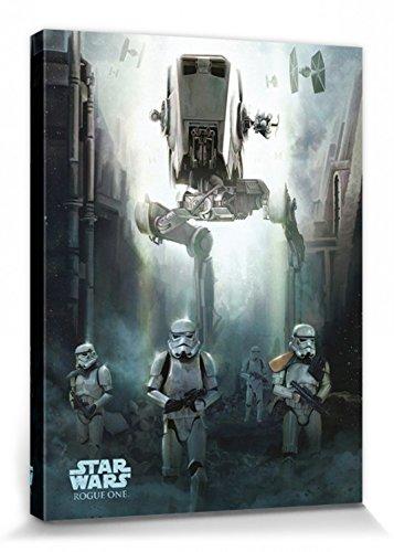 Star Wars - Rogue One, Stormtroopers Cuadro, Lienzo Montado Sobre Bastidor (80 x 60cm)