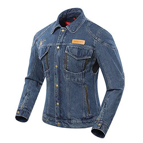 Motorradjacke - Motorradtrikot - Winddicht / Anti-Fall - Damenjacken / Four Seasons Universal Racing Jersey (mit Jacke Mit Herausnehmbarer Warmer Schicht) (S)