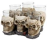 Nemesis Now Six Shooter Skulls Schnapsglas-Set altweiß