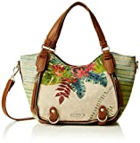 Desigual Women's BOLS_ROTTERDAM Tropical Fly Top-Handle Bag, White (1003), 12 X 19 ...
