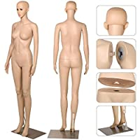 Popamazing Female Mannequin Full Body Dress Model Shop Window Display Dummy Adjustable Detachable