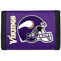MINNESOTA VIKINGS Team Logo Tri-Fold NYLON WALLET by Rico