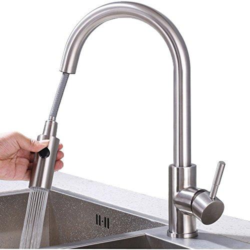 Homelody miscelatore cucina estraibile rubinetto per lavello cucina rubinetto cucina con doccetta estraibile rubinetto miscelatore da cucina