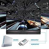 Convertidor Wii a HDMI Wii2HDMI 720P/ 1080P, PORTHOLIC Full HD Adaptador con Cable HDMI con Salida de Audio de 3,5 mm y Puerto HDMI para Nintendo wii u&mini wii HDTV Proyector Beamer Monitor (Blanco)