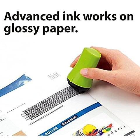 Igemy 1pcs Préserve votre ID Roller Stamp Selfinking Tampon Messy Code Sécurité Bureau Green