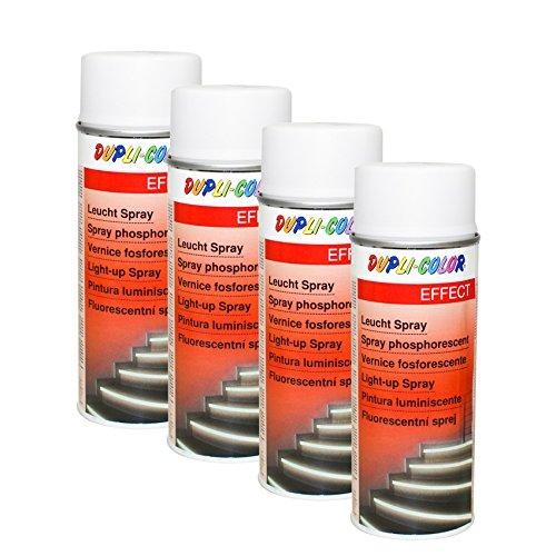 Preisvergleich Produktbild 4X DUPLI-Color LEUCHTSPRAY Metall Holz HARTKUNSTSTOFF Karton Wände EFFEKTLACK 40
