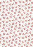 Lewis und Irene Taube Haus rosa Herzen auf cremefarbenem