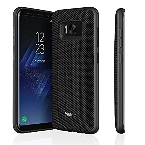Evutec AERGO Series Protective Ballistic Nylon Military Drop Tested Case for Samsung Galaxy S8 - Black