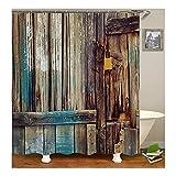 KnSam Duschvorhang Anti-Schimmel Wasserdicht Vorhänge an Badewanne Bad Vorhang für Badezimmer Tür 100% PEVA inkl. 12 Duschvorhangringen 120 x 180 cm