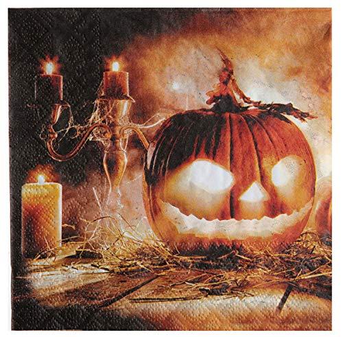 Servietten Pumpkin Time 20 Stk Papierservietten Party Tischdeko Halloween Kürbis
