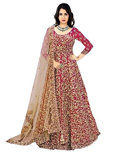 Aryan Fashion Women's Dress Material(THsgfwe11144_pink-aw1_Free Size)