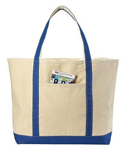 Canvas Tote Beach Bag, verschiedene Farben–55,9x 40,6cm–Heavy Duty Baumwolle, Schulterriemen, Reißverschluss Top Closure, Leinwand Beutel sind Doppelnähten an für Langlebigkeit zu Griff nassen Handtücher und Beach Gear. Beige/Schwarz (- Baumwoll-top Tote Zip)