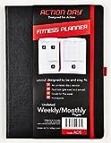 Action Day Planificateur Fitness–Non daté hebdomadaire/mensuel pages–Taille 8x 11–Clavier Conçu pour être et Stay Fit–Nourriture & Fitness Journal–(Entraînement (+) Nutrition (+) d'exercice Agenda)...