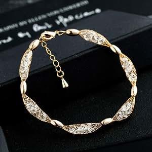 Armband 18K Gold plattiert mit Swarovski Elementen - Damen Schmuck