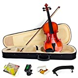 Aklot pour violon 4/4Taille complète Naturel acoustique Violon avec étui Bow Épaulière Tuner Colophane pour violon Bois Instruments de musique Violin A Style
