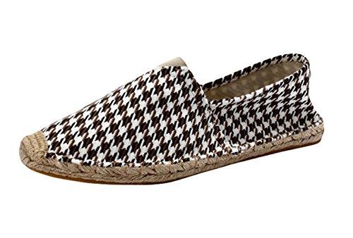 Insun Alpargatas para Mujer Lona Vamp Artesanal Suela Cuerda de Yute Zapatos Moda Ocasionales Loafer...