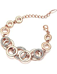 Yellow Chimes Circles Of Love Charm Bracelet for Women (Rose Gold)(YCFJBR-618CRCLS-RG)