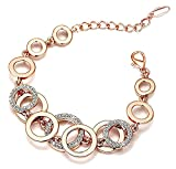 Shining Diva Fashion Jewellery 18k Rose Gold Crystal Stylish Bracelet Gift for Girls Women