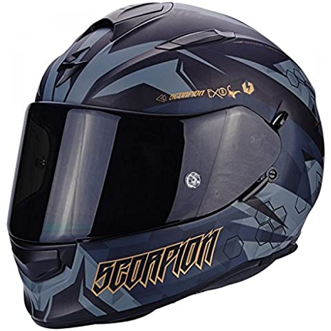 Scorpion Casco Moto EXO-510 AIR Cipher, Black/Gold, M