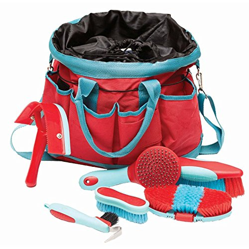 roma-deluxe-6-piece-grooming-bag-watermellon-bright-blue