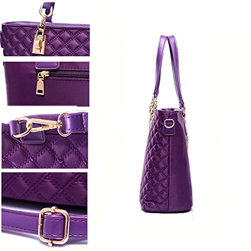 FavoMode, Borsa a mano donna viola Purple Rose Pink