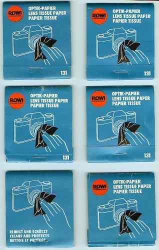 ROWI Optik Papier 131 - 6 Stück - Lens Tissue Paper - Papier Tissue [zur Reinigung von Linsen und Objektiven, Optic Paper] Optic-lens Cleaning Kit