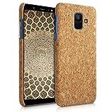 kwmobile Samsung Galaxy A6 (2018) Hülle - Handyhülle für Samsung Galaxy A6 (2018) - Hellbraun - Handy Case Kork Cover Schutzhülle