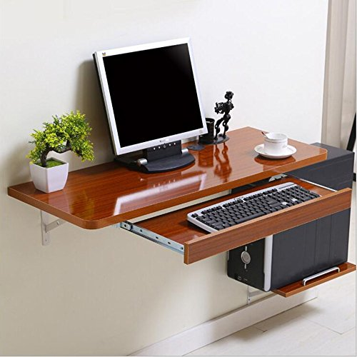 Zhuozi FUFU Wandhalterung Wand-Tisch Computer PC Laptop Schreibtisch für Home Office Kinder, Kinder, Weiß 3 Größen Drop-Blatt-Tabelle (Farbe : Nussbaum, größe : 120*40cm) (Wandhalterung Halterung Nussbaum)