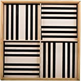Kapla 9000070 Holzplättchen 100-teilig in Box schwarz/weiß