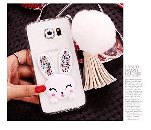 Samsung Galaxy S6 Edge Plus Caso, Samsung Galaxy S6 Edge Plus Cover, Bonice Ultra Sottile PC Hard Back Antiurto Shock-Absorption Durable Case Love + 1x Protezione Dello Schermo Screen Protector Pattern 01