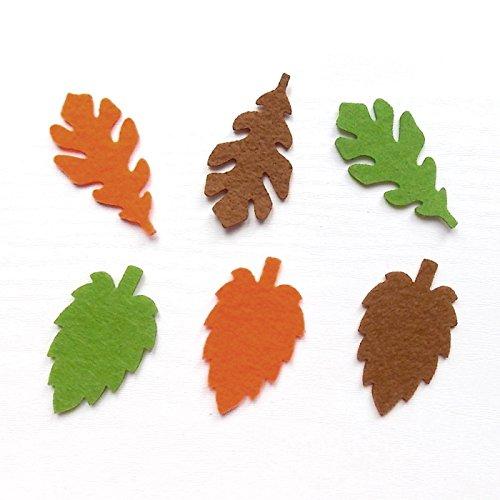 Bastelfilz Figuren Set - Herbstblätter gemischt - Filz, Textilfilz, Streudeko