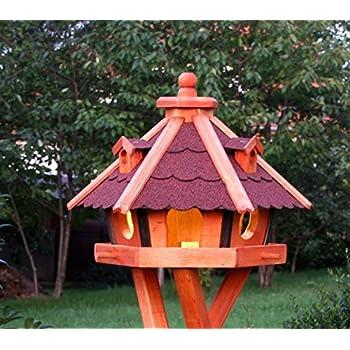 Großes Vogelhaus Vogelhäuser behandelt wahlweise mit Ständer und Solar Typ 33